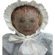 REDUCED Sweet Oil Painted Doll Circa 1880s