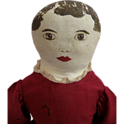 Frankie L McCulloch's Hill-Billy Doll Made in the Ozarks Patented Painted Face