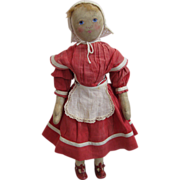 Adorable Babyland Rag Doll Hand Painted Circa 1900