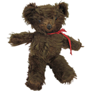 1930s Brown Mohair Bear with Metal Nose