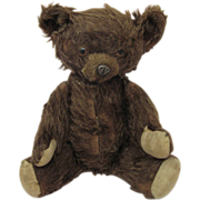 Knickerbocker Teddy Bear Circa 1930s Metal Nose