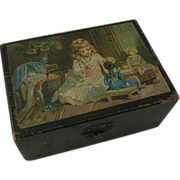 Clark's Advertising Box Pictured with Girls Circa 1880s