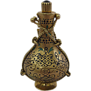 Vintage Fabulous 18 Karat Heavy Gold Pendant Perfume Bottle