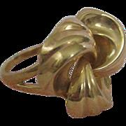 10 Karat Yellow Gold Victorian Lovers' Knot Ring