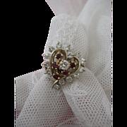Rubies and Diamonds Circa 1940s Ring