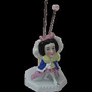 Porcelain Figure Pin Cushion