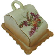 Doll Size Antique Cheese Dish with Cover