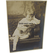 SOLD Genuine Antique Photo Child with Teddy Bear