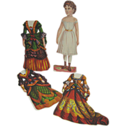 Rare McLoughlin Paper Doll with Additional Costumes Printed on Both Sides