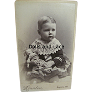 Charming Antique Photo Child with Wigged China Doll