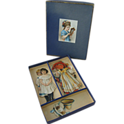 Rare Raphael Tuck Boxed Paperdoll Set Made for the French Market Circa 1889-1898