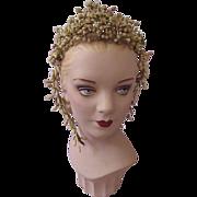 SALE PENDING Antique Wax Wedding Tiara Headpiece