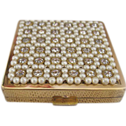 1950s Compact with Jewels