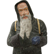 Santa or Father Christmas Papier Mache Figure Dating Circa 1890s-1900 Germany