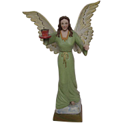 Circa 1930s Carved Wooden Christmas Angel
