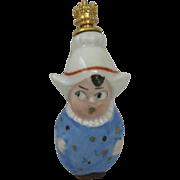 SALE PENDING Sweet Vintage Porcelain Dutch Girl Perfume Bottle Germany Gold Crown Stopper Daub
