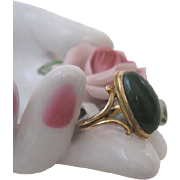 Victorian Green Carnelian Pinkie Ring