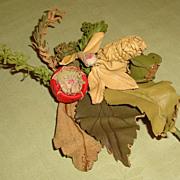 Vintage Leather Millinery Flower for Hat Bonnet or Corsage