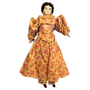 Antique China Doll with Lovely Dress
