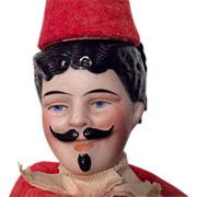 Bisque Character Head Man Schoenhut Wood Body Circus Ringmaster