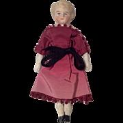 SOLD German Bisque Dollhouse Doll All Original Beautiful Dress