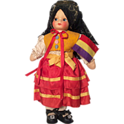 SOLD 1930s All Original Cloth Spanish Spain Doll
