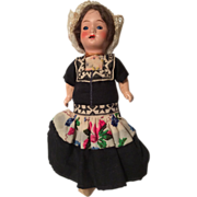 German Bisque All Original Doll Dutch Girl