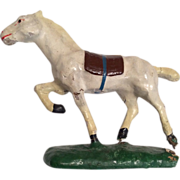 Vintage Miniature Composition Horse for Doll or Dollhouse
