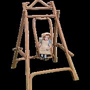 SOLD Miniature Vintage Doll Swing