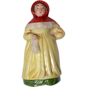 """SOLD Tiny 1.5"""" German Miniature All Bisque Doll or Dollhouse Figure"""