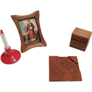 Doll Desk Accessories for Mignonette or Dollhouse Miniature
