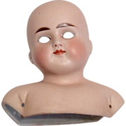 SOLD Closed Mouth ABG 698 German Bisque Turned Shoulder Doll Head