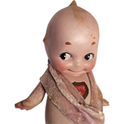 """SOLD 6"""" German All Bisque Rose O'Neill Kewpie Googly Doll"""