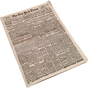 SOLD Miniature 1946 New York Times Dollhouse or Doll Newspaper
