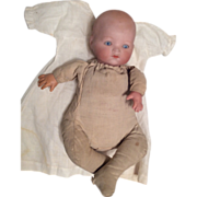SOLD A.M. Dream Baby Bisque Head Frog Body Celluloid Hands Doll needs TLC or Parts