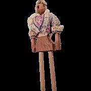 Interesting Vintage Wood Doll
