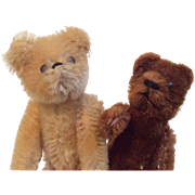 2 Vintage Doll Size Miniature Tiny Teddy Bear Pair Schuco German Germany