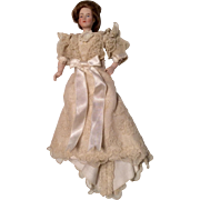 SOLD Bisque Dollhouse Lady Doll with Gibson Girl Hair