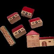 SOLD Miniature German Doll Dollhouse Wood Blocks in Bag Doll's Toy