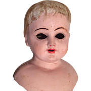 Antique Papier Mache Doll Head