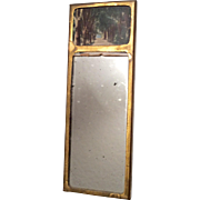 SOLD Antique Dollhouse Doll Wall Mirror with Picture Scene on Top Miniature