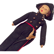 Lenci Napoleon Boy Vintage Doll Original French Military Uniform with Sword