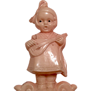 Adorable Googly Doll Vintage Figural Celluloid Rattle Toy