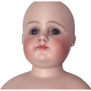 SOLD Antique Closed Mouth Bisque Doll Head