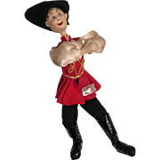 Large Klumpe Russian Man Dancing Cloth Doll