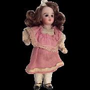 SOLD All Original Bisque Head German Doll Factory Dress