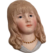 Bisque Doll Head Flat Half Doll Style