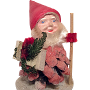 German Santa Claus Doll Vintage Christmas Decoration