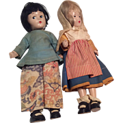 2 Tagged All Original Madame Alexander Vintage Composition Doll Compo Wendy Ann Snap Shoes