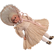 German Compo Doll Great Dress and Bonnet
